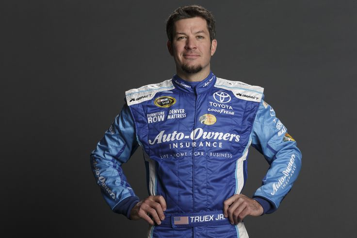 Photo shoot with #78 Martin Truex Jr. and the Auto-Owners Insurance fire suit. #NASCAR