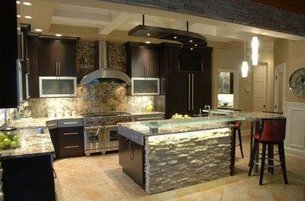 Stylish kitchens design with espresso cabinets 41