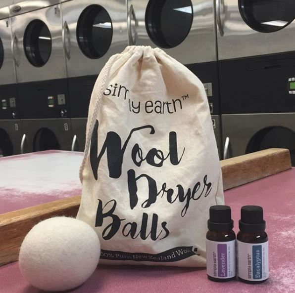 """""""Love these Simply Earth wool dryer balls. They cut down on waste, dry time, and eliminate harmful chemicals that traditional dryer sheets contain."""" : aromaticamanda (IG)"""