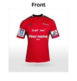 Crusaders #7 shirt with your kids name on it and support Plunkets