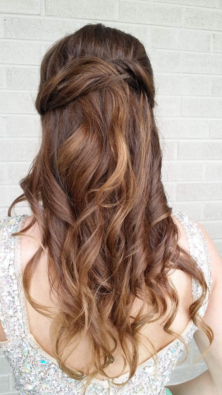 spanish wave weave hairstyles : hairstyle was a beautiful choice for prom! Hair and makeup by Southern ...