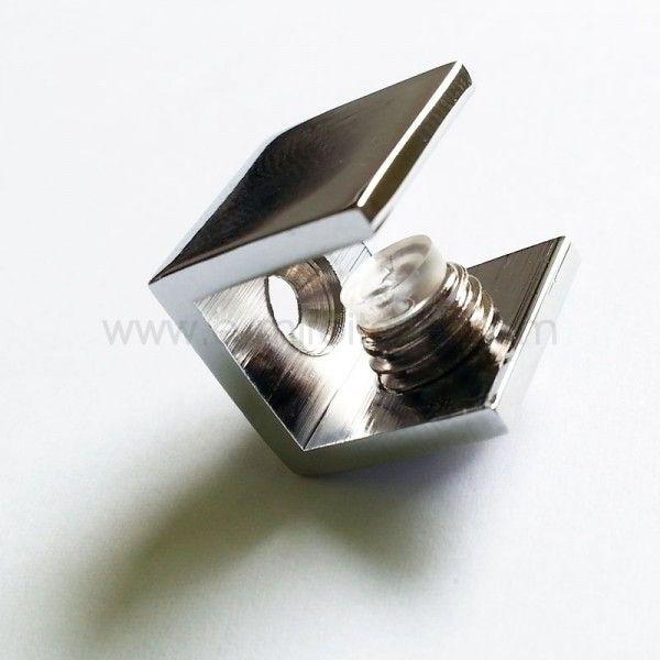 Pince pour tablette en verre de 4 à 6mm - PIAZZA - Chromé