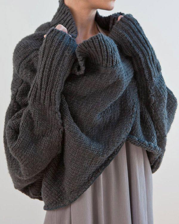 Chunky grey knit - so cozy