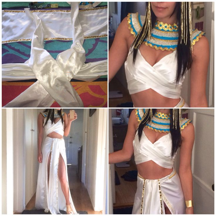 DIY CLEOPATRA COSTUME -- final stages                               …