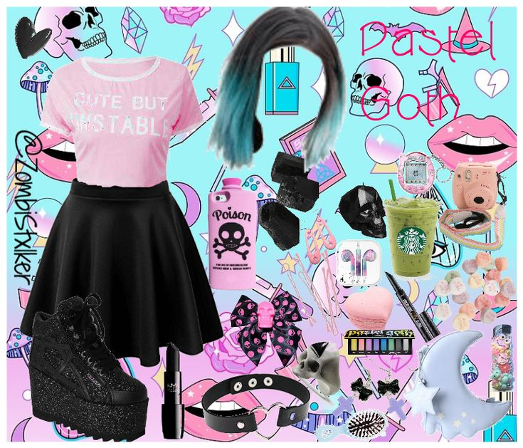 Aesthetic Pastel Goth Outfits
