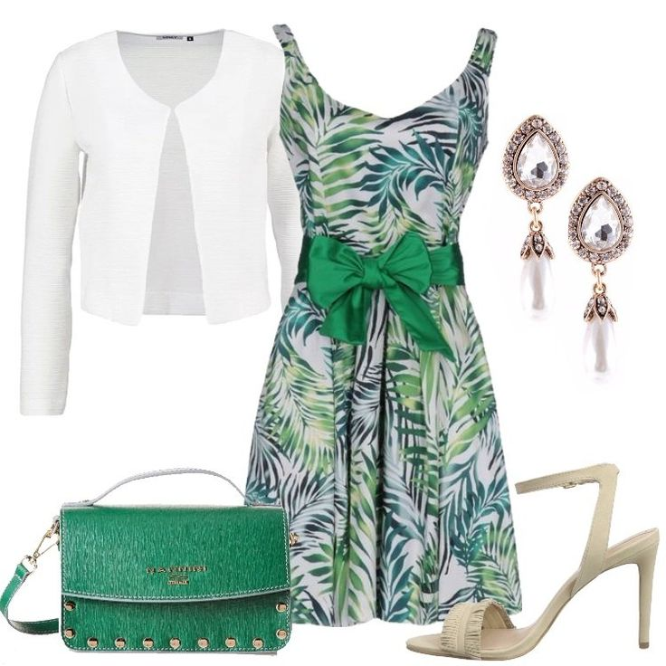 Outfit Elengante fantasia tropicale