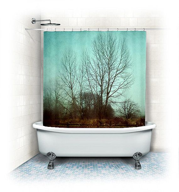 1000 ideas about brown shower curtains on pinterest for Brown and aqua bathroom ideas