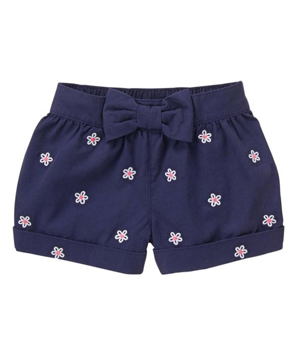Look at this Gymboree Bulldozer Blue Embroidery-Accent Shorts - Infant & Toddler on #zulily today!
