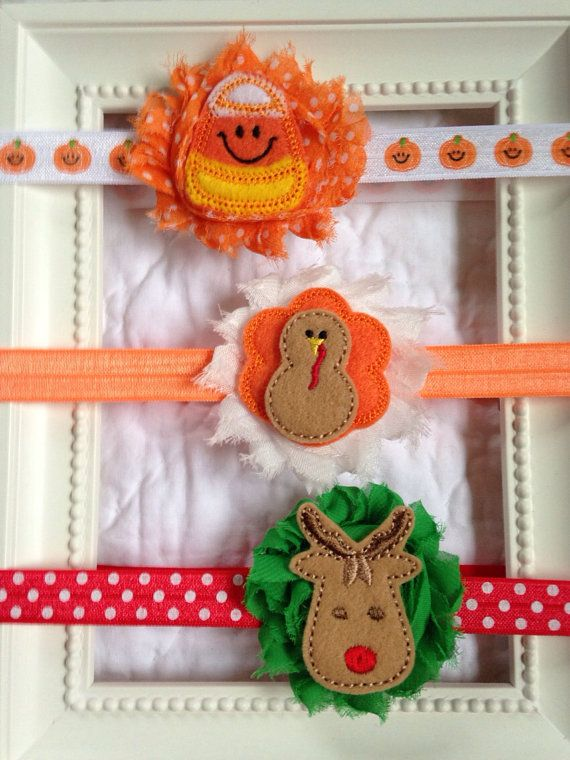 Halloween+thanksgiving+Christmas+baby+headbands+by+MiaBellaBands,+$17.95