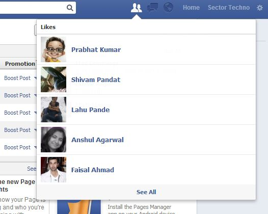 See new likes on #facebook #fan page using your friend list button.