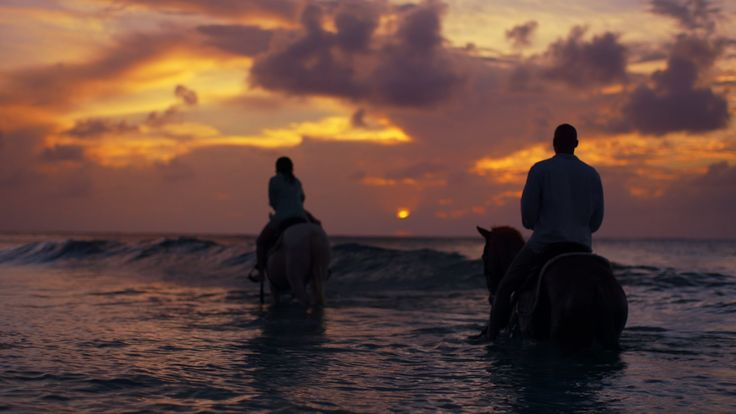 St. Croix, U.S. Virgin Islands Riding horses on the beach at sunset on St. Croix. is an awe-inspiring experience you'll never forget.   No passport required for U.S. citizens. Click the pin to start planning your Real Nice trip to the USVI and save.   #RealNice