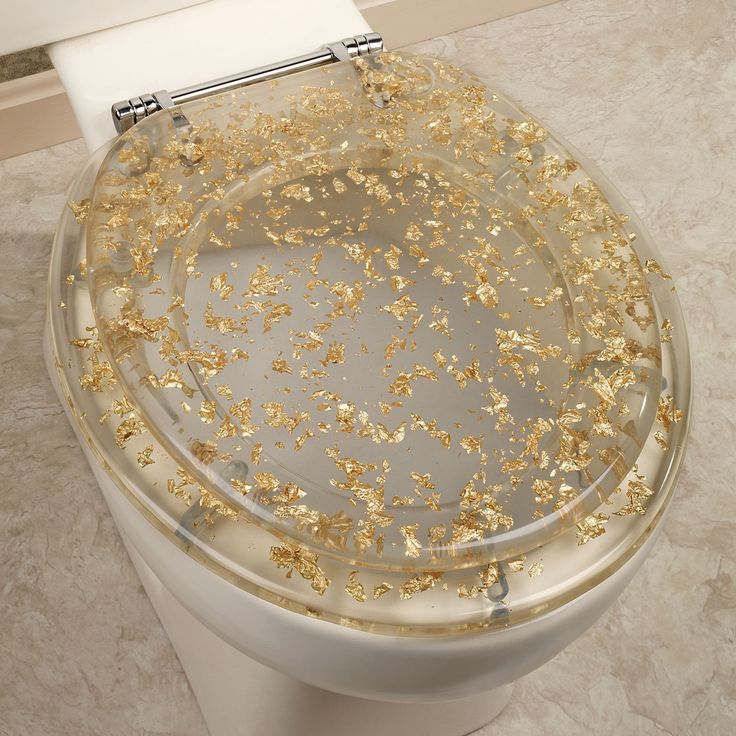 Gold Foil Toilet Seat Clear So Classy And So Funny