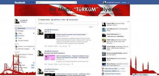 Türk Bayrağı Facebook Teması Yeni Dizaynı Nasıl Yapılır ?