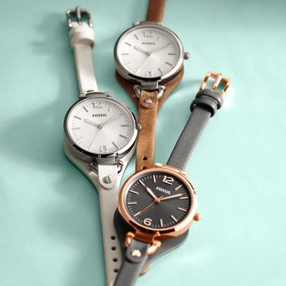 Georgia Leather Watch - Love these! Especially the Smoke and Rose one. Ahem, Christmas present. :)