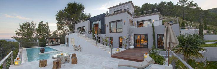 Stunning 8 bedroom luxury contemporary Ibiza mansion on a hilltop | Elite Real Estate | Luxury Property for sale | Mallorca, Ibiza, Algarve, Spain, Caribbean Gatehouse