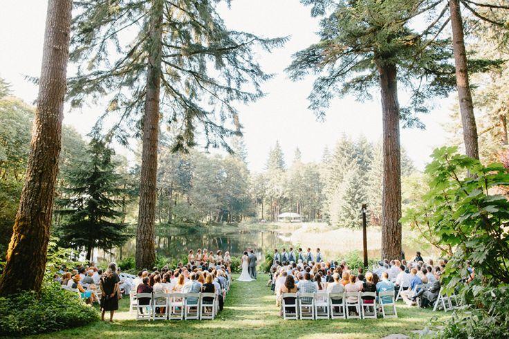 Wooded wedding at Bridal Veil Lakes