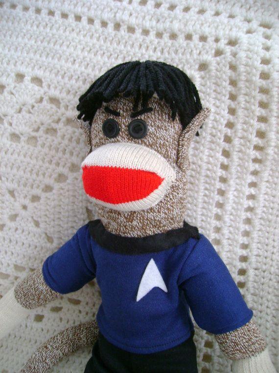 Custom sock monkeys and other great custom items!  https://www.etsy.com/listing/166533947/mr-spock-sock-monkey