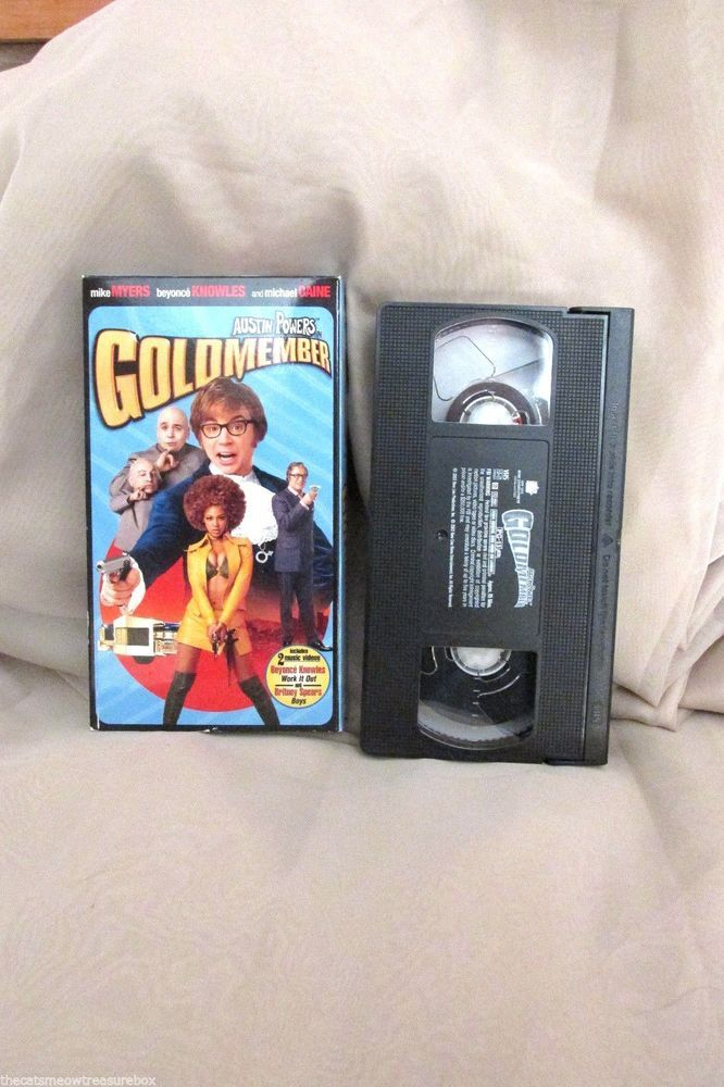 Austin Powers Goldmember VHS Comedy Movie Rated PG13 Bonus Music Videos 2002