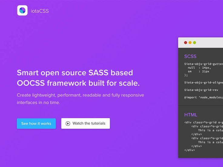 iotaCSS: A Sass design agnostic framework