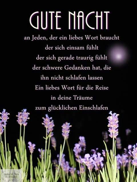 Schone Gute Nacht Sprüche Fur Mein Schatz | Geburtstagswünsche