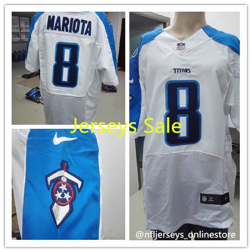 ... Light Blue Team Color Womens Stitched NFL Elite Jersey Nike Titans 8  Marcus Mariota White Mens Stitched NFL Elite Jersey - Nike Limited ... 9d379b010
