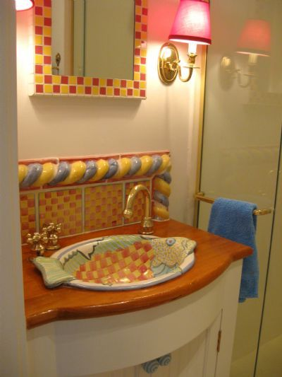 Marvelous Fish Bath Sinks   The Original Design Of The Bathroom Lavatories Is Just  One Example Of · Mackenzie Childs ...