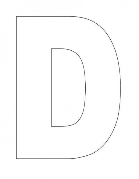 ABC Song and Alphabet Letter D Templates  Fonts