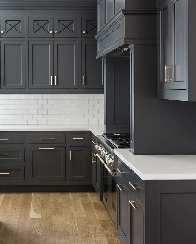 Charcoal Grey Kitchen Cabinets | Luxury Kitchen Cabinets, Grey Kitchen Designs, Dark Grey Kitchen Cabinets