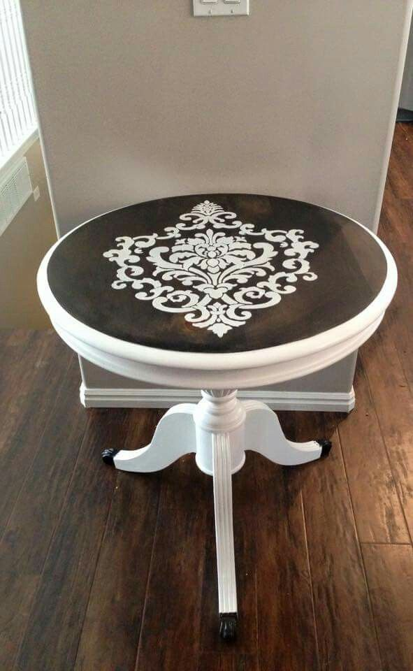 Stencil in silver metallic paint would be awesome! More