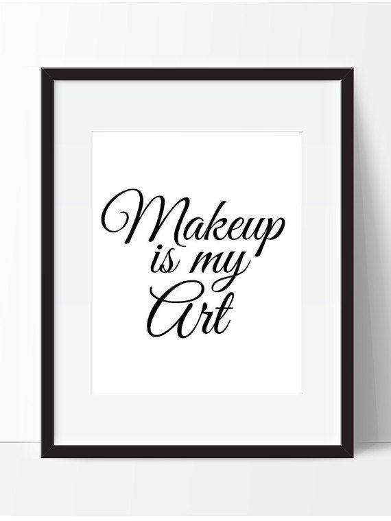 Impresión para imprimir de maquillaje por PrintsbyPhetssy en Etsy