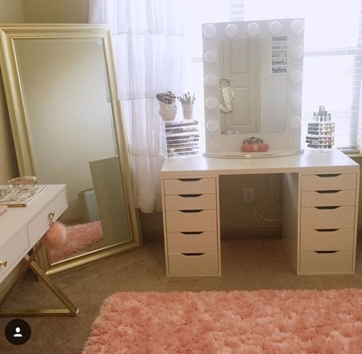 Vanity Organization Makeup Storage Elegant Makeup Makeup Vanities  Makeup Mirror Ikea Makeup Vanity Vanity Ideas Beauty