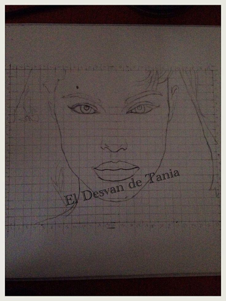 Paso 1 Angelina Jolie a lápiz! Eldesvandetania.blogspot.com Facebook: el desvan de Tania  Twitter @El Desván De Tania
