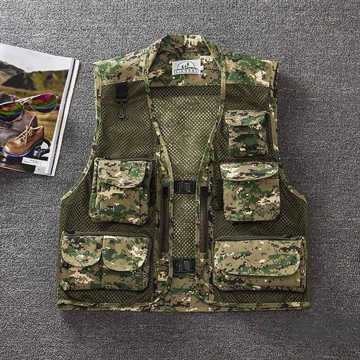 Quick-Dry Mesh Fishing Vest Outdoor Photography Angler Waistcoat Customizable Loose Multi-Pocket Fishing Vest chaleco de pesca