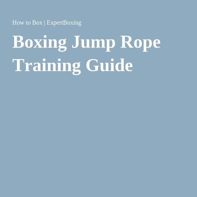 Boxing Jump Rope Training Guide