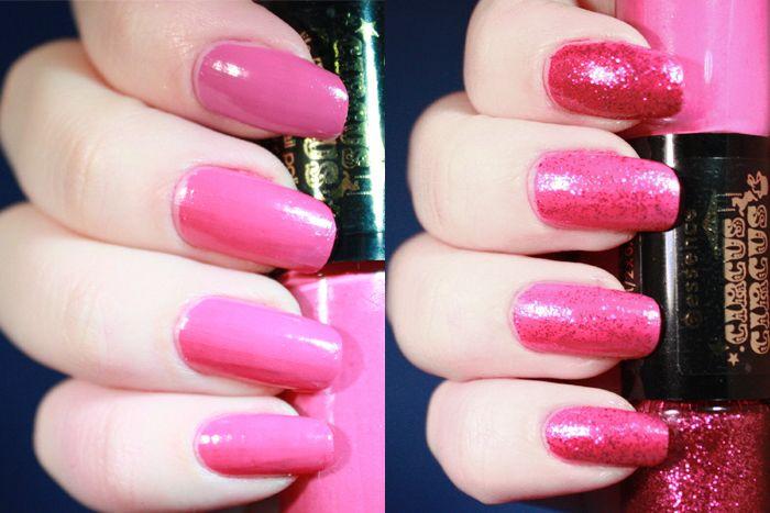Essence - Circus Circus - Nail Polish - Nail art - Glitter Nails - Glitters - Pink - Roze - Nagels - Nagellak - Cotton Candy - Swatch - PinkGraphics.nl - Silvy