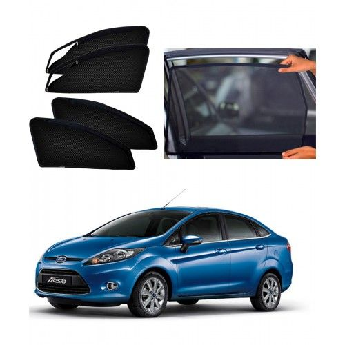 Carhatke-Zipper Magnetic Car Sunshades-Curtain For Ford Fiesta New Set Of 4