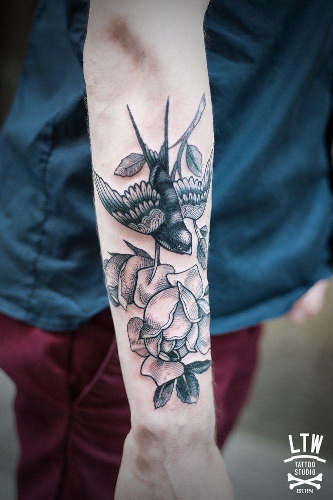 Para este tatuaje Rafa se inspiró en uno de los cuentos de los hermanos Grimm por expreso deseo del cliente.