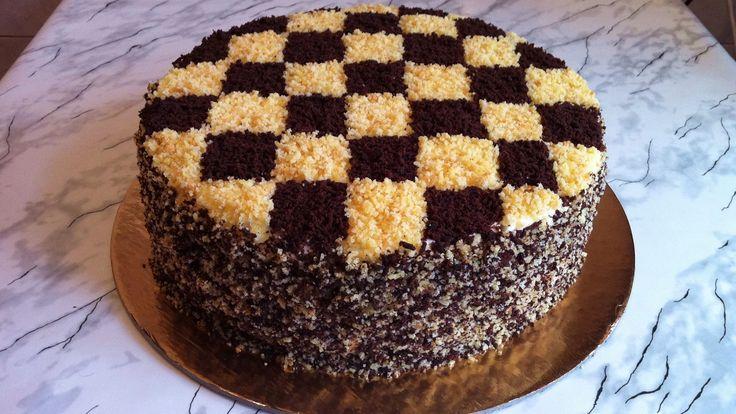 """Торт """"Шахматный""""/Шахматный Торт/Chessboard Cake/Пошаговый Рецепт(Очень В..."""