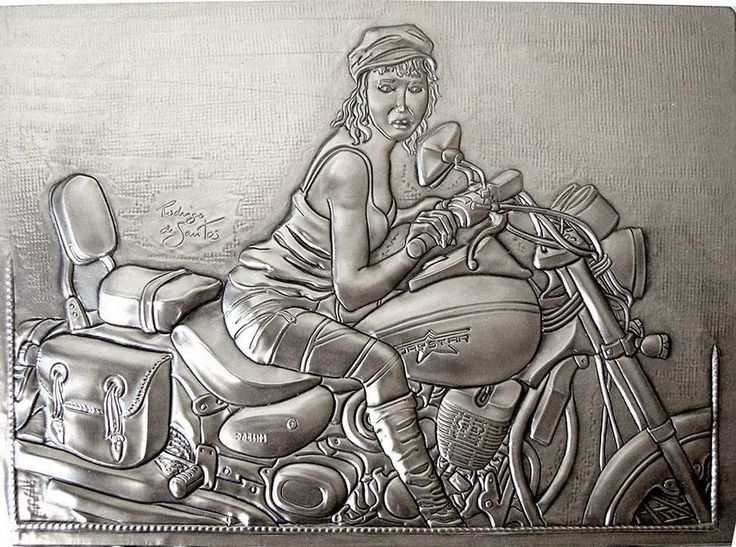 ArteyMetal: Retrato Damanegra