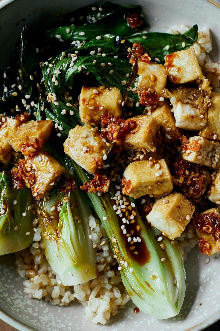 Crispy Tofu Bowls with Sesame Bok Choy