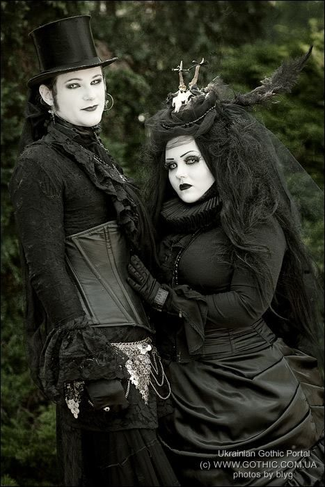 Gothic couple at wave gotik treffen