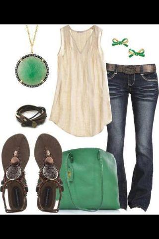 Em verde