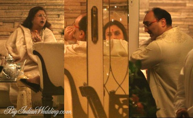 Captured during last Diwali, Aditya Chopra with Rani Mukerji and her mother.