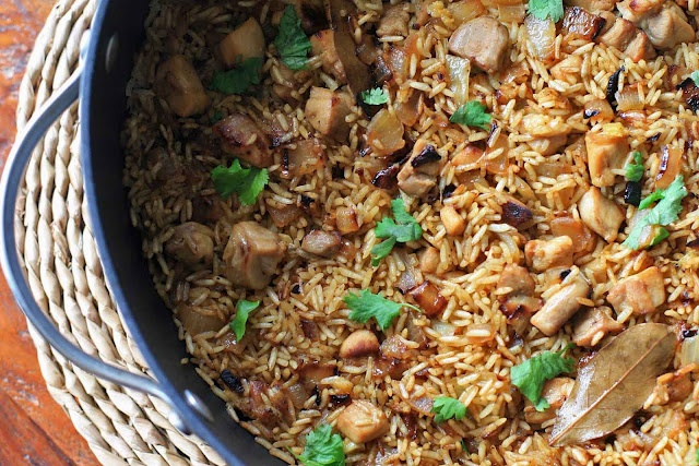 Khukara Ko Polau- Nepali Fried Rice. Tried this with tofu and it was so different and delicious