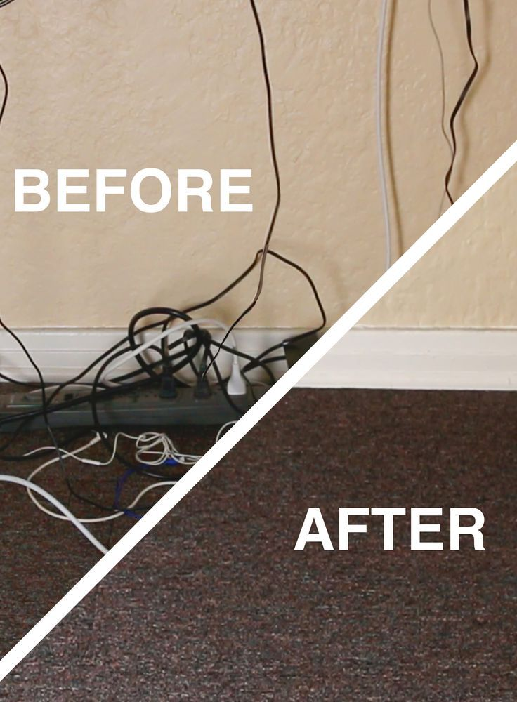 Go From A Hot Mess To Clean How To Hide Your Desk Cords