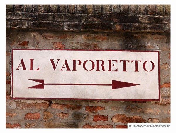 Vaporetto, Venecia con niños