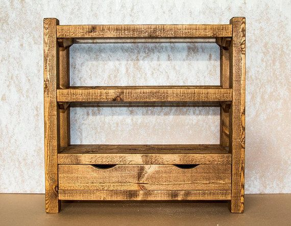 Shoe rack, rustic wooden shoe rack with drawer, shoe shelf, shoe storage. pine…