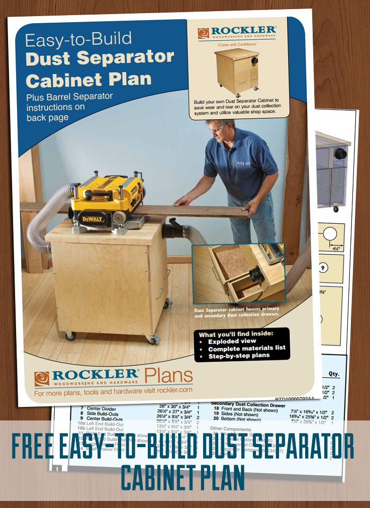 Rockler Dust Right® 4'' Dust Separator Components, with FREE Downloadable Plan | The o'jays, The ...