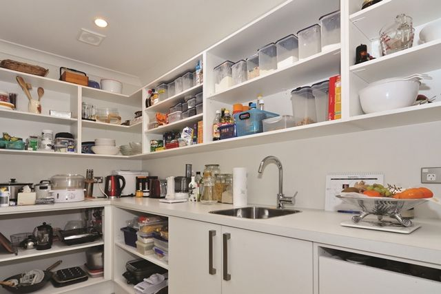 There's room for everything in the home's fully-equipped scullery.