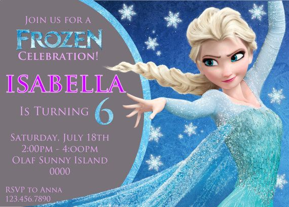 Best Madison Images On Pinterest Teacher Gifts Birthday - Birthday invitation frozen theme